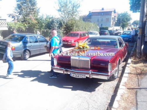 avtomobil za svatba lincoln